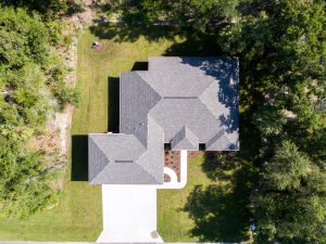 top view of new home construction